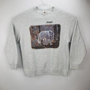 Vintage 1998 White Wolf Oregon Crewneck Sweatshirt